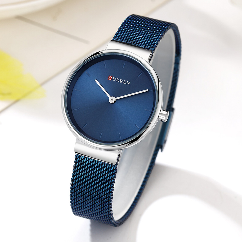 Curren Watch Luxury Women Watches Waterproof Blue Analog Quartz Dress Women Watches Steel Bracelet Ladies Watch Relogio Feminino original wismec sinuous p80 kit with elabo mini tank 2ml 80w max output mod box uses single 18650 battery electronic cigarette