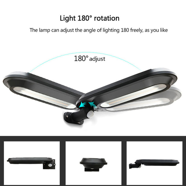 LED Solar Light Human Infrared PIR Motion Detection Wall Lamp Security Outdoor Lighting Waterproof IP65 Garden stairs panel lamp