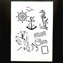 A4 Size DIY Craft Art Stencil Template For Wall Painting Scrapbooking Stamping Photo Album Decor Embossing Cards