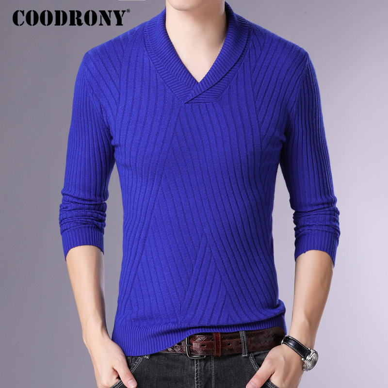 COODRONY Brand Sweater Men Streetwear Fashion Casual Pullover Men Knitwear Pull Homme Autumn Winter Cashmere Wool Sweaters 91059