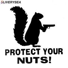 SLIVERYSEA Proteger Suas Nozes Esquilo Do Exército Da Polícia Marinha Fuzileiros Navais Adesivos de Carro E Decalques Adesivo Criativo Preto Sliver # B1081