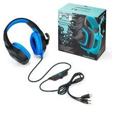 K1-A ONIKUMA Graves Profundos de Ouvido Sobre a Orelha Fones De Ouvido Com Cancelamento De ruído ativo Fones de Ouvido Fones de ouvido de Jogos com Microfone com Caixa