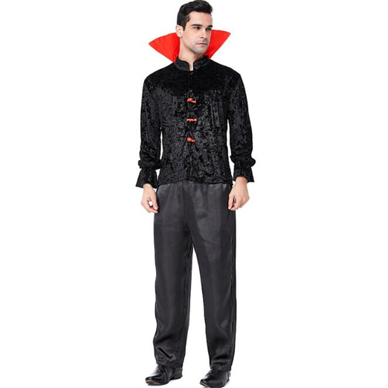 New Arrival Men Vampire Costume Halloween Adult Fancy Cosplay Clothing