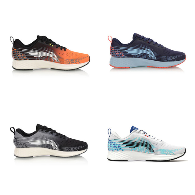Li-Ning Men BASIC RACING SHOES Running Shoes Light Weight Marathon LiNing Breathable Sport Shoes Sneakers ARBP037 XYP908 1