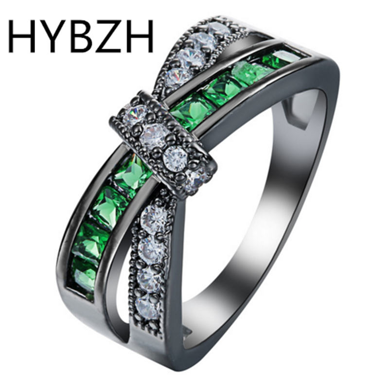 HYBZH cross finger ring for lady paved cz zircon luxury hot Princess women Wedding Engagement Ring purple pink color jewelry