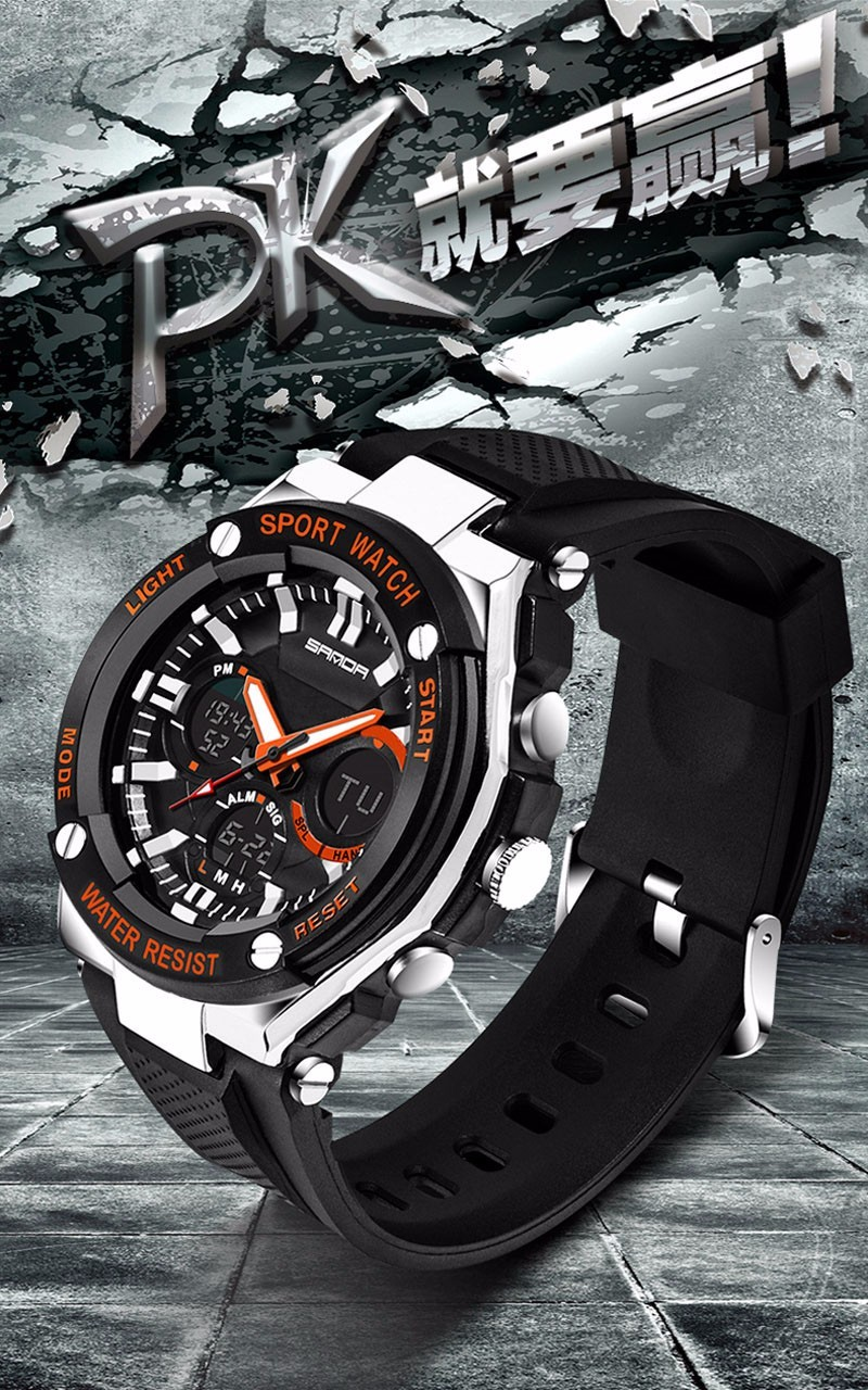 Men Sport Watch Waterproof Top Brand Luxury Military Watch LED Digital Quartz Wristwatch Relogio Masculino Reloj Hombre 2019 733 12