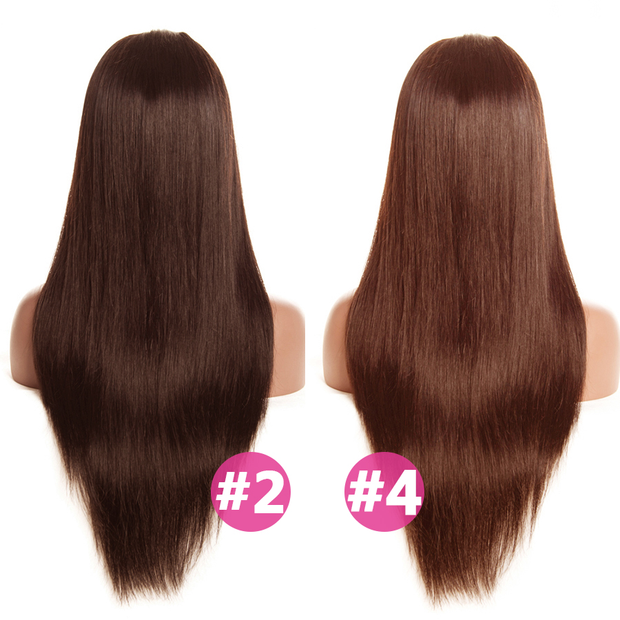 #2 #4 Color hair Brazilian Lace Front Human Hair Wigs ALIPOP Lace Front Wig Straight Human Hair Wigs Natural Hairline 10-26 (1)