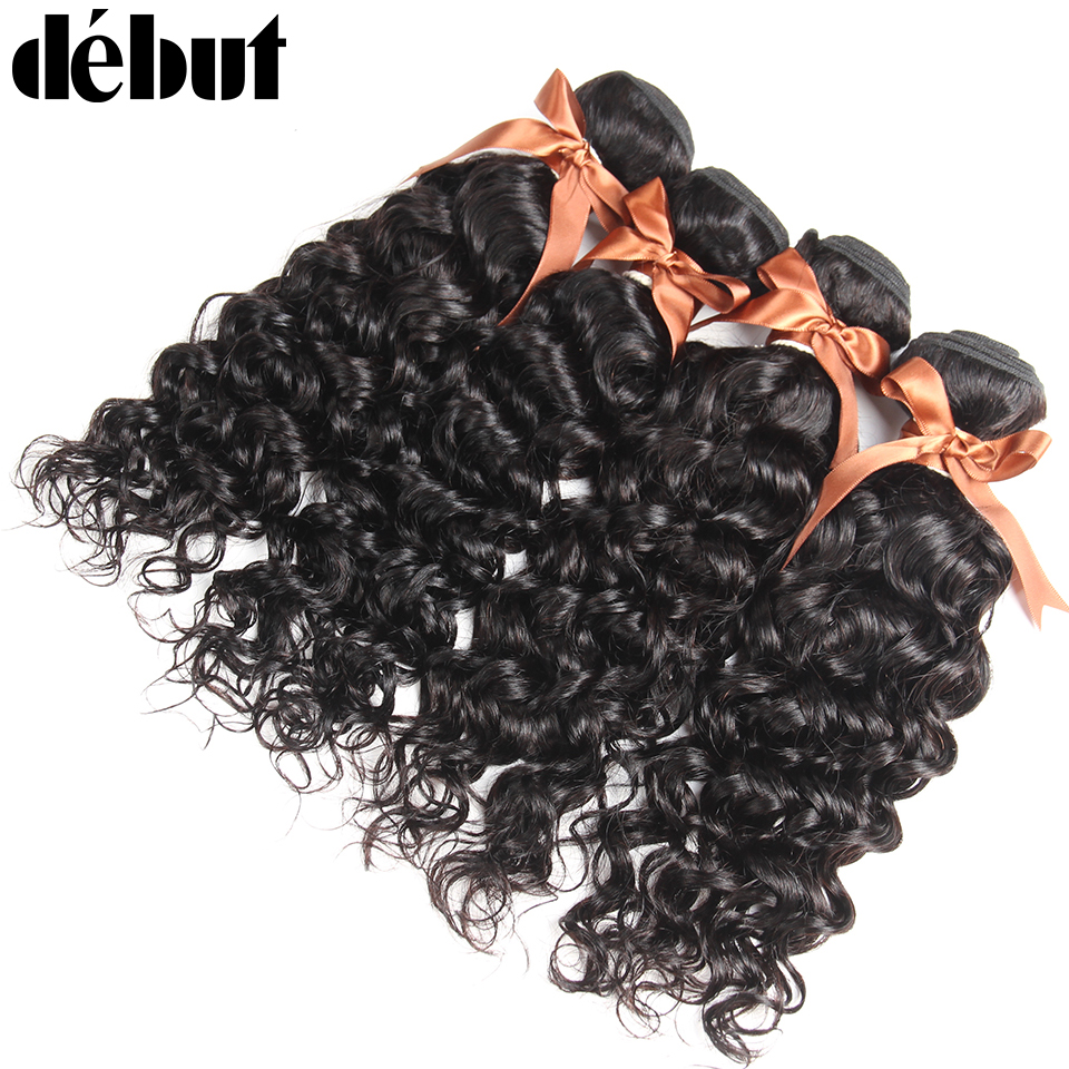 Frank Malaysian Water Wave Hair 3/4 Bundles Wet And Wavy Curly Weave Human Hair Bundles Malaysian Ocean Wave Non Remy Hair Extensions Making Things Convenient For The People Human Hair Weaves