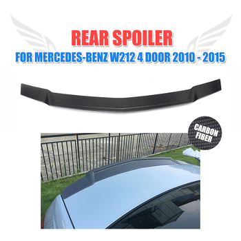 Carbon Fiber Rear Spoiler Trunk Boot Lid Wing for Mercedes-Benz W212 Sedan E200 E250 E300 E350 E400 E500 E550 E63 AMG 2010-2015