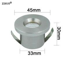 ZINUO 5pcs/Lot Mini COB 3W LED Spotlights Cabinet Spot light Lamps Foyer living sitting recessed micro miniature Down light