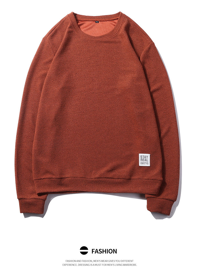 7Colors Autumn Casual Men Sweatshirts Solid Hoody Top Basic O Neck Sport Hoodies Male Spring Crewneck Streetwear Brand Clothing 05