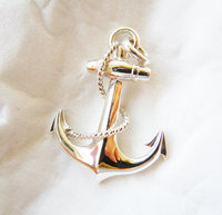 Solid Sterling Silver Anchor Pendant