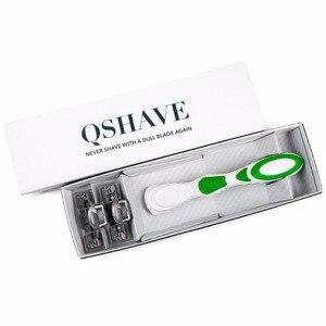 Женские бикини Qshave Blue, бритва для бритья на день рождения, день рождения, подарок для сестры y, 1 бритвенная ручка, 2 шт. X3, лезвие в США