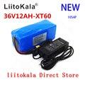 LiitoKala 36В 12Ач батарея для электровелосипеда Встроенная 20А литиевая батарея BMS упаковка 36В с 2А зарядкой батарея для электровелосипеда XT60 Pllug