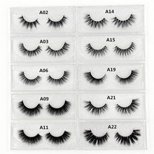 Mink Eyelashes 3D Mink Lashes Thick HandMade Full Strip False Eyelashes cruelty free Korean Mink Lashes 34 Style False Eyelashes
