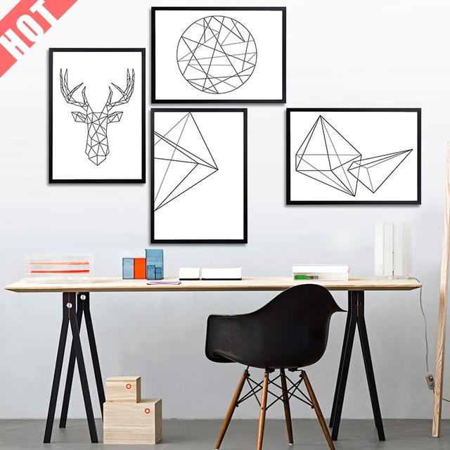 Us 175 30 Offnowoczesne Nordic Minimalistyczny Czarny Biały Geometryczny Kształt A4 Duże Reprodukcje Plakat Abstrakt ściany Obraz Na Płótnie