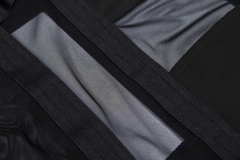 Женский прозрачный комбидресс Cryptographic, сетчатый черный облегающий боди с открытой спиной, модный сексуальный комбидресс на бретельках, 2019