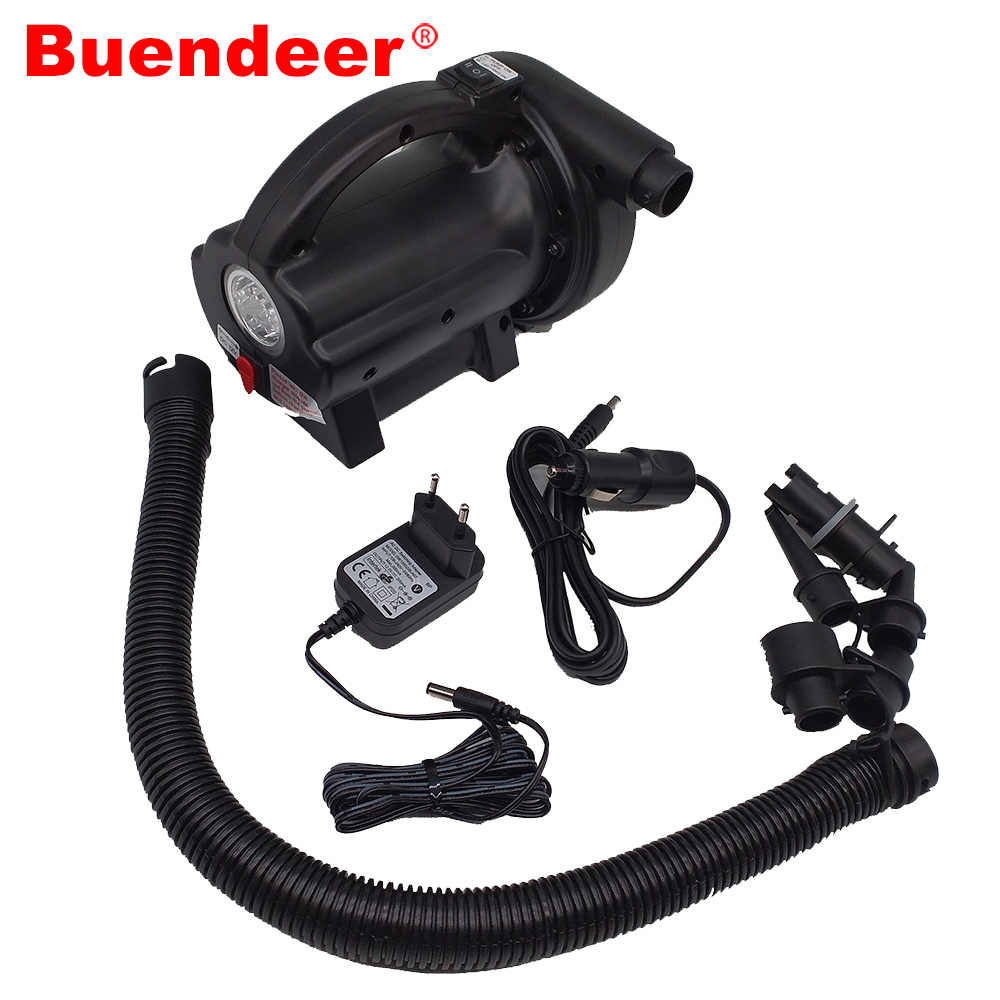 Buendeer HT-378 Car Electric Air Pump Deflate Inflate electric pump for inflatable boat Air Compressor With LED Indicator