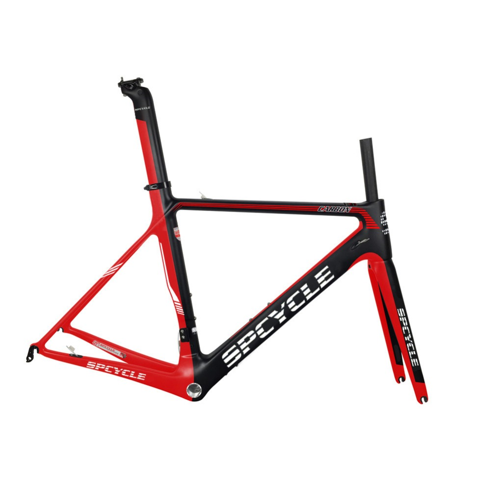 SmileTeam 2018 New Carbon Road Bike Frame Di2 & Mechanical Carbon Racing Bicycle Frame BSA Carbon Bicycle Frameset Fork Headset smileteam 2018 new bsa carbon road bike frameset t800 carbon 700c racing bicycle frame with fork seatpost 2 year warranty