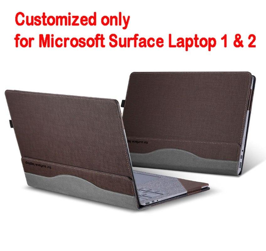 Съемный чехол для microsoft Surface Laptop 1 2 13,5 дюймов планшетный ПК ноутбук чехол Подставка для экрана клавиатура пленка ручка 2 в 1 - Цвет: coffee