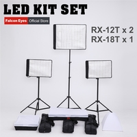 FalconEyes 34W 62W 5600K Dimmable Flexible Portable Continuous LED Video Film Studio Photography Light RX 12T