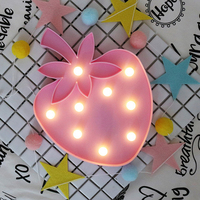 Strawberry Fairy Night Light ABS Plastic Led Table Desk Lamp Bedroom Atmosphere Wedding Decoration Creative Gift