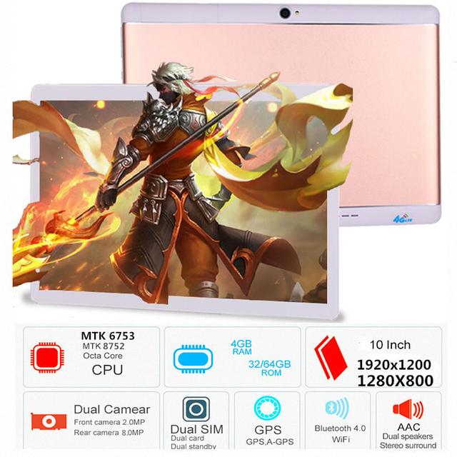 Free Shipping Original 10.1 inch 3G/4G LTE Phone tablet PC 8 Octa Core RAM 4GB ROM 32GB 64GB 1920*1200 IPS tablets pcs S109