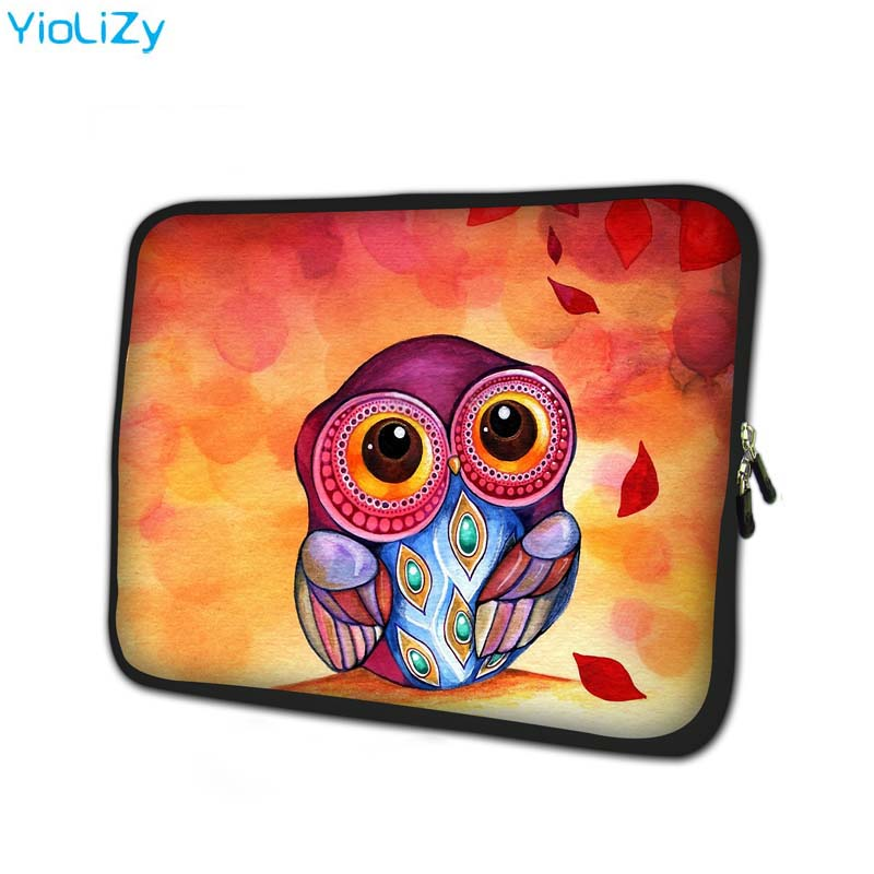 print owl soft Notebook sleeve 7 9 tablet case 7 Laptop Bag mini tablet cover Protective shell for kindle 4 case TB 15112 in Tablets e Books Case from Computer Office