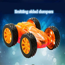 WEYA New Cute Toy LED Double sided flip Cars for Child hot wheels Mini Pull Back