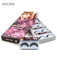 SHILINA 10 Pairs Natural Long False Eyelashes High Quality Hand Made False Eyelashes Thick False Lashes
