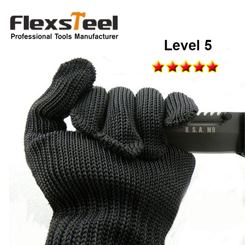 Flexsteel Cut Resistant Gloves High Performance Level 5 Protection Food Grade Size Medium For Kitchen Cutting Woodworking Food Emotions Gloves Computerfood Glove Aliexpress