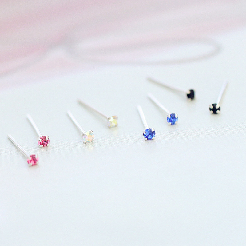 9 Colors Mini Rhinestone 925 Sterling Silver Zirconia Ear Bone Nail For Women Men Girls Korean Jewelry Unisex S925 Stud Earrings still life photography