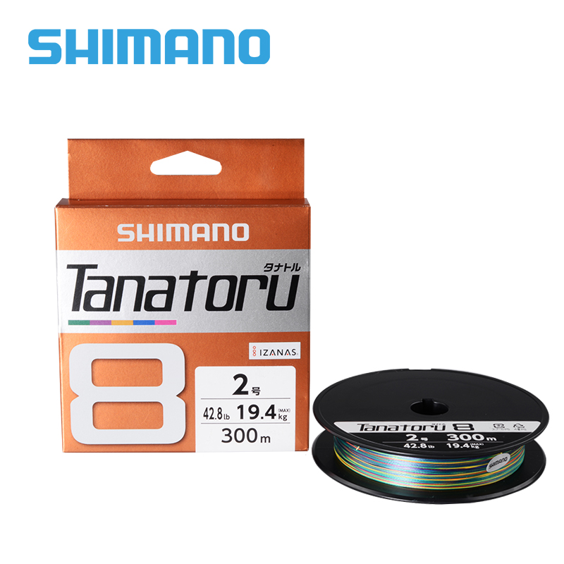 100 Original SHIMANO TANATORU X8 Braided Fishing Line PE 300M multicolor 2 0 3 0 4
