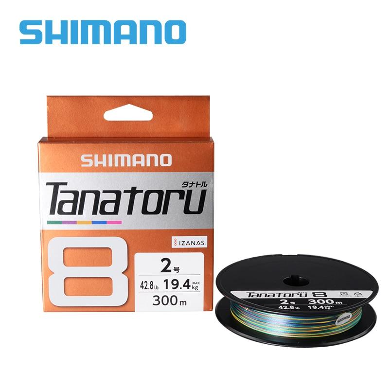 100% オリジナルシマノ TANATORU X8 編組釣り糸 PE 300 メートル多色 2.0 #/3.0 #/4.0 # 編組線釣りツール  グループ上の スポーツ & エンターテイメント からの 釣り糸 の中 1