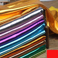 150cm*46cm Stretch Shiny Gold Foil bronzing Spandex Fabric Material PU glossy leather fabric for DIY stage cosplay costume Dress