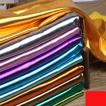 150cm*50cm Stretch Shiny Gold Foil bronzing Spandex Fabric Material PU glossy leather fabric for DIY stage cosplay costume Dress