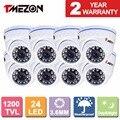 """Tmezon 8 * 1200tvl 1/3 """"ir cut seguridad cctv cámara domo de infrarrojos de visión nocturna al aire libre de trabajo con dvr"""
