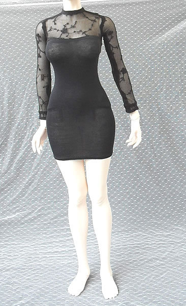 bjd accessories 1/3 1/4 bjd clothes 65cm large female bjd Doll dress black sexy tight dress large female sexy black short skirt 1 3 1 4 bjd doll funiture black chair