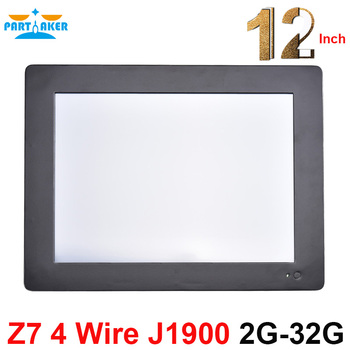 Partaker Z7 4 Wire Resistive Touch Screen All In One PC Computer with 2mm Slim Panle 12.1'' Intel Celeron J1900 2G RAM 32G SSD
