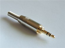 "10 pcs צלחת זהב באיכות גבוהה 1.8 ""3.5mm סטריאו זכר תקע מתאם הלחמה מחבר עבור 4mm כבל"