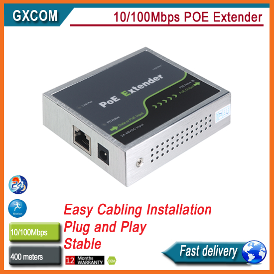 10/100Mbps POE extender  Compliant with IEEE802.3af/at