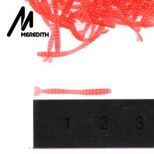 Meredith 500pcs Smell Red Worm Lures 2cm Hot-selling  Soft Bait Carp Fishing Lure Set Artificial Fishing Tackle JXC01-2