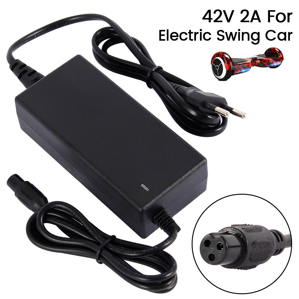 <font><b>42V</b></font> 2A Universal Battery Charger for Hoverboard Smart Balance Wheel Electric Power Scooter Hover Board EU Plug <font><b>Adapter</b></font> Drive image