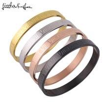 Роскошные золотые браслеты для женщин и мужчин из титановой
