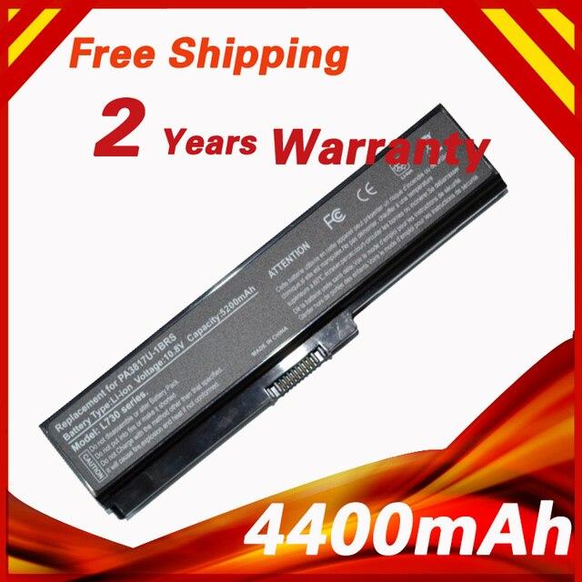Laptop Battery For Toshiba PA3816U-1BAS PA3816U-1BRS PA3817U-1BAS Satellite A660 C600 L510 L700 L700D L730 L740 L750 L755 L770