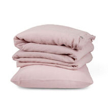 4PCS Pink Washed Linen Duvet Cover Set King Size Flax Linen Bedding set Sheets Bed Sheet Queen Pure Linen Sheets 100% Bedcover