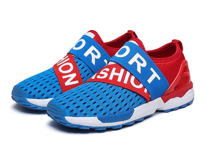 2016 Boys Girls Mesh Shoes Kids Fashion Sport Anti-Slippery Bottom Breathable School Shoe Size Euro 28-36 Free Shipping