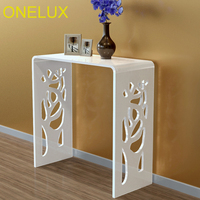 Engraved Waterfall Acrylic Hallway Desk,Lucite Console /Writing/Corner/Event Tables 80W 35D 80H CM
