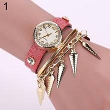Hot sale! Women's Tassels Drop Pandent Rhinestone Multi-Layers Bracelet Chain Wrist Watch AJSL W2E8D