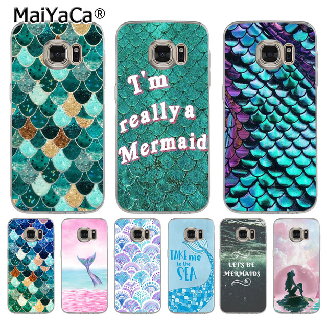 pretty nice f4b3b aa1f1 US $1.32 49% OFF|MaiYaCa Mermaid fish little Mermaid girl Coque Shell Phone  Case for Samsung Galaxy S9 Plus S5 S6 S7 Edge S8 Plus S6 Edge Plus-in ...